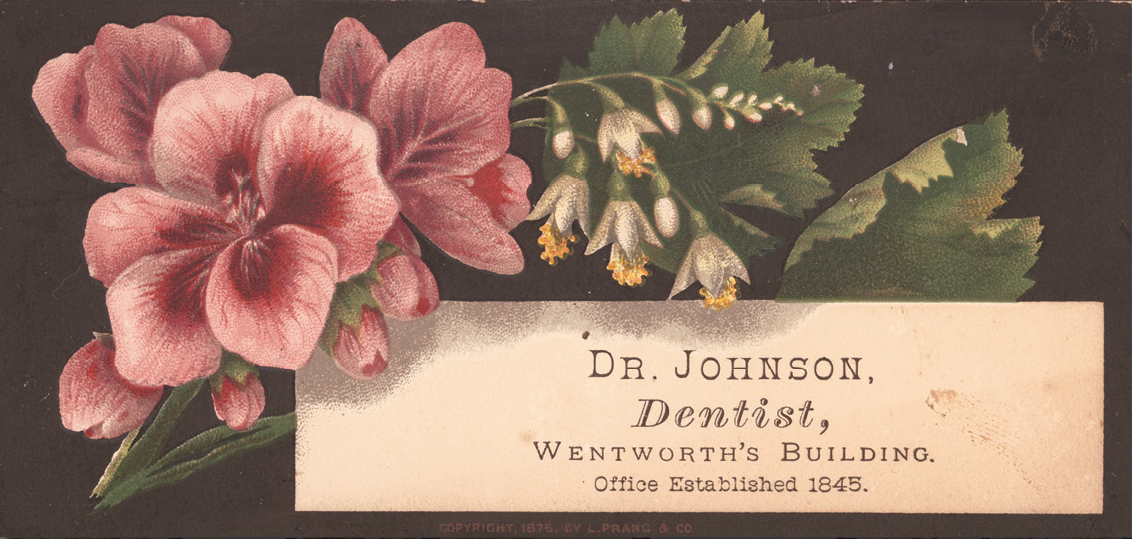 Painless Promises: Business Cards of the Victorian Dentist - Virtual ...