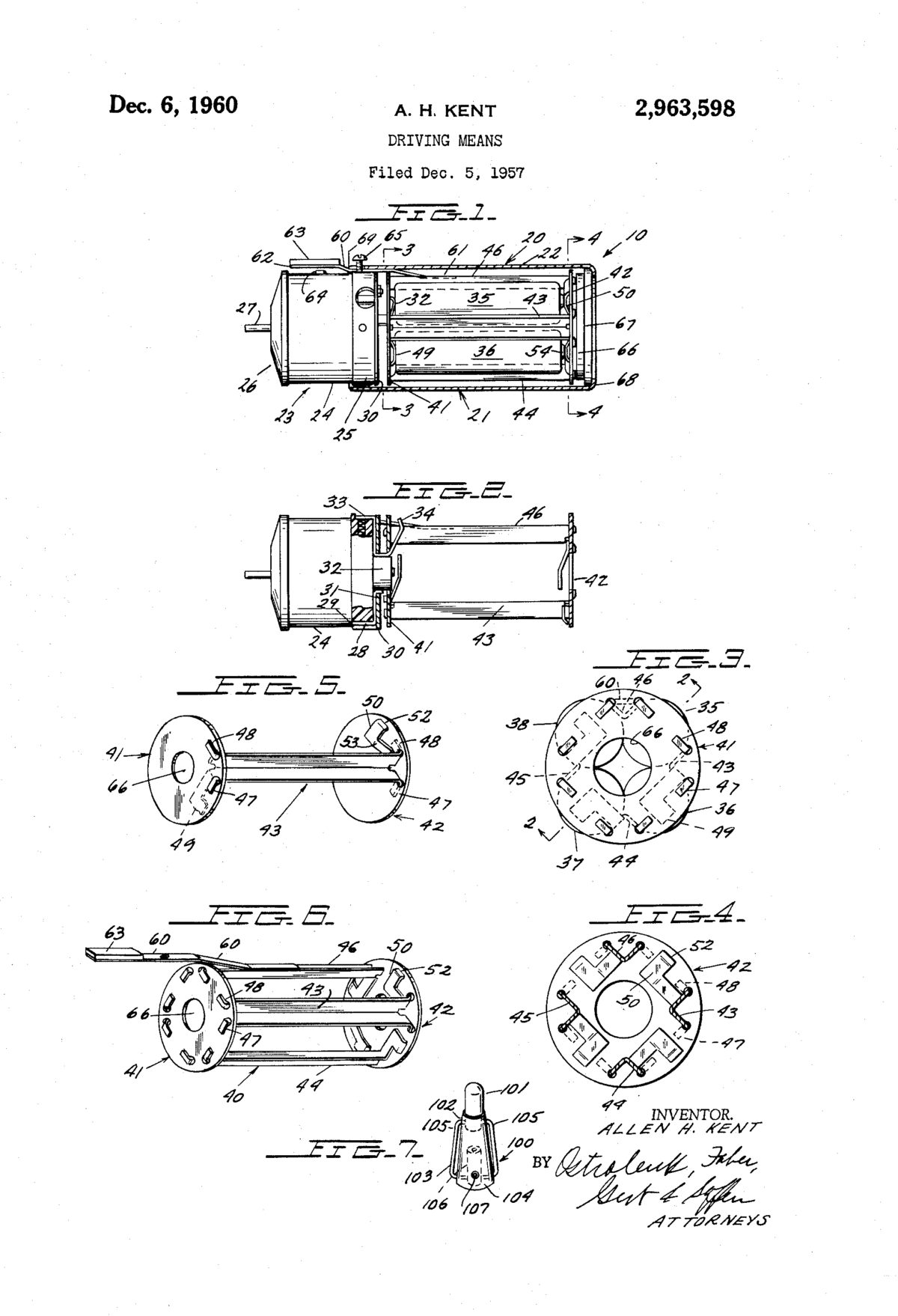 Device Driving Means patent drawing