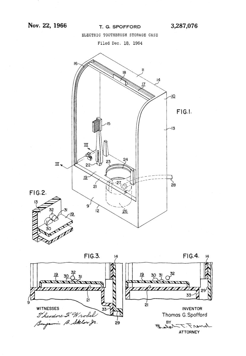Electric Toothbrush Storage Case patent drawing