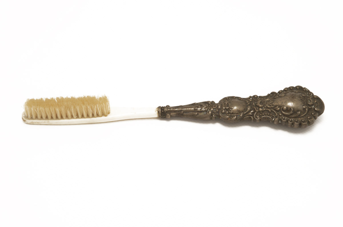 Victorian-era French toothbrush celluloid stock