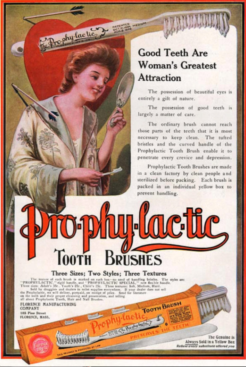 Pro-phy-lac-tic toothbrush ad
