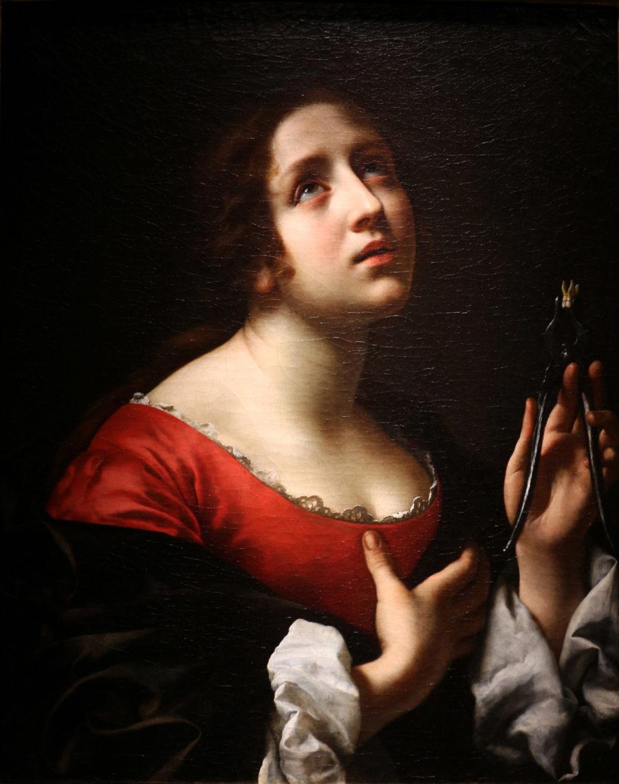 Carlo Dolci painting, seventeenth century